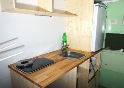 Die Küche nimmt Gestalt an